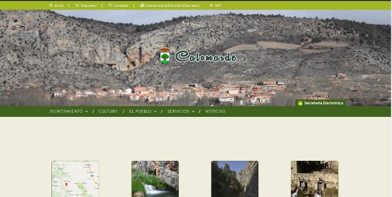 Nueva imagen de la web de Calomarde